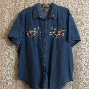Vintage denim shirt with Bears
